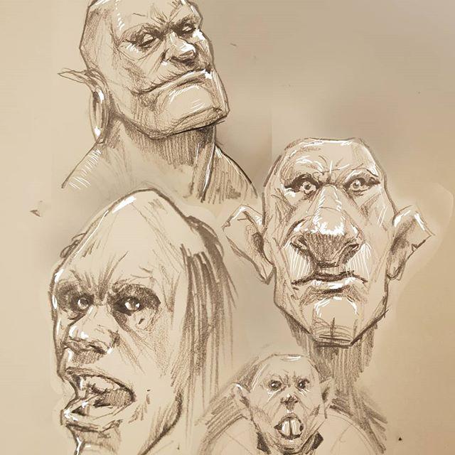 Orc doodles #Drawing #orcs #fantasyart #sketchbook #pencildrawing #drawingoftheday