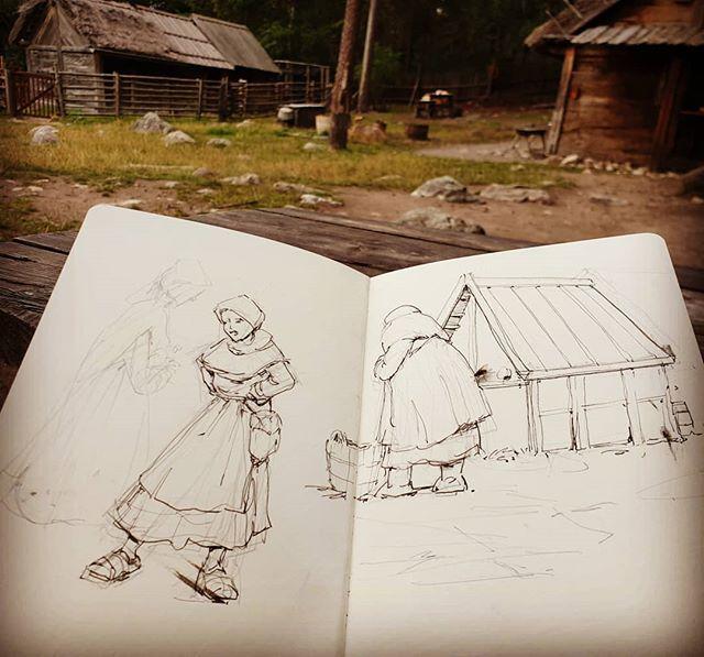 #sketchbook #vikings #inkdrawing #lifedrawing