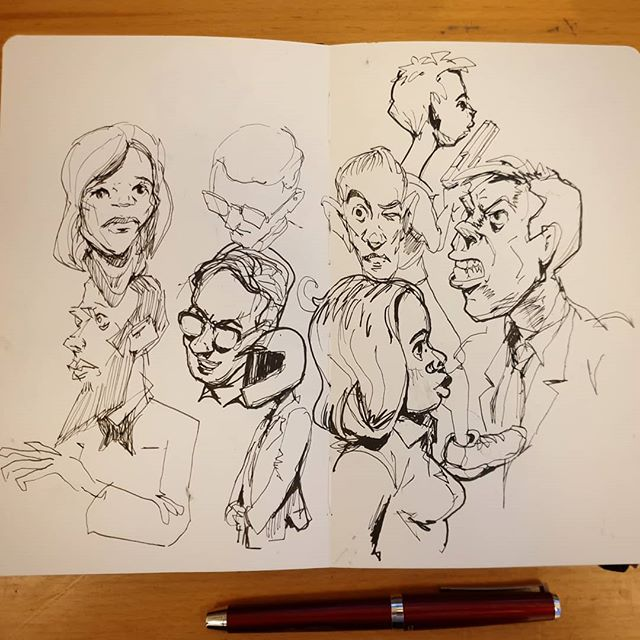 #inktober day 2 more random characters #inktober2019 #inkdrawing #moleskine #illustration