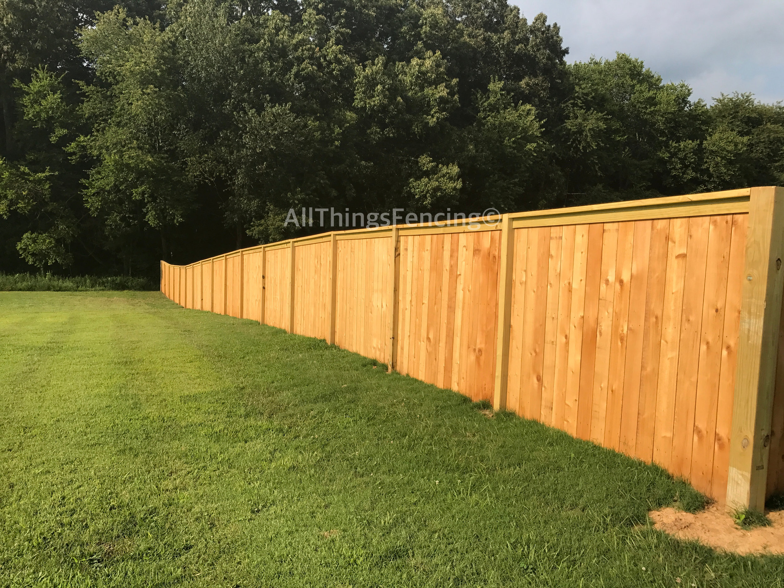 *Fence displayed is cedar.