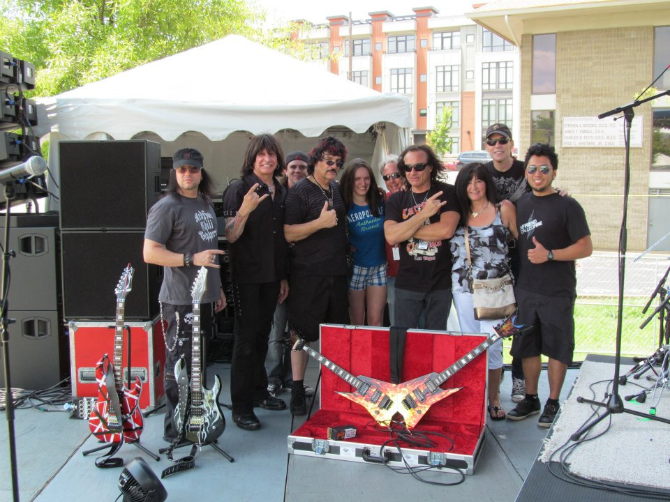 Carmine and Vinnie Appice, Dan Shafer, and friends.jpg