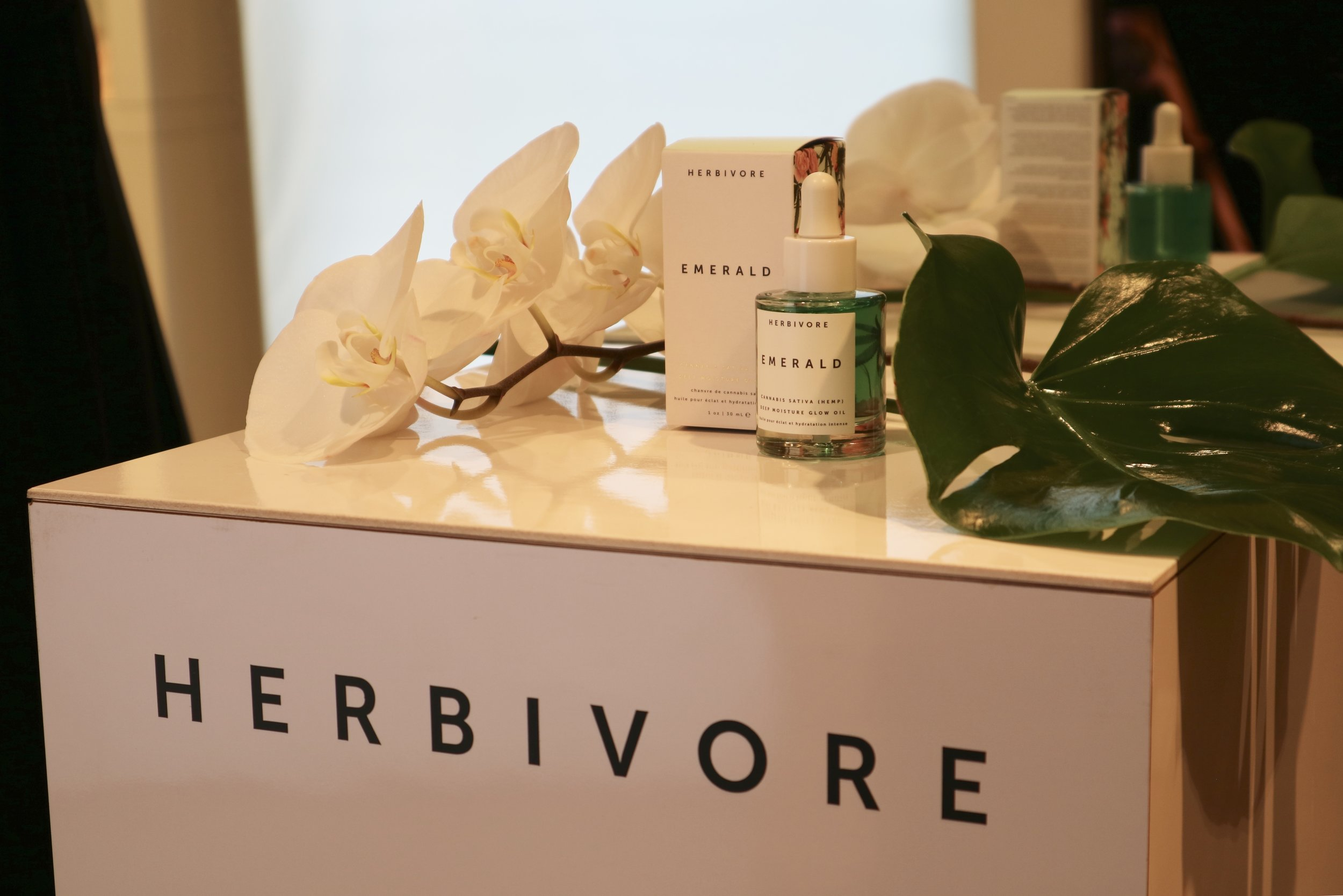 Herbivore - Emerald Oil launch with Space NK
