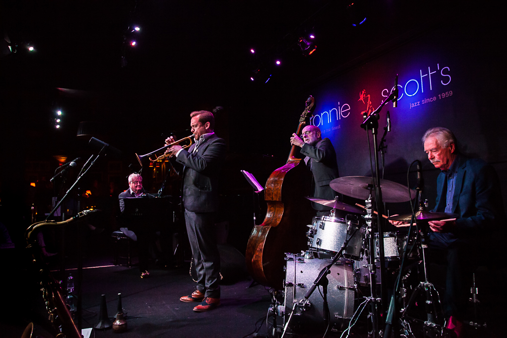 John Horler / piano, Quentin Collins / trumpet, Jim Richardson / bass, Tony Mann / drums.