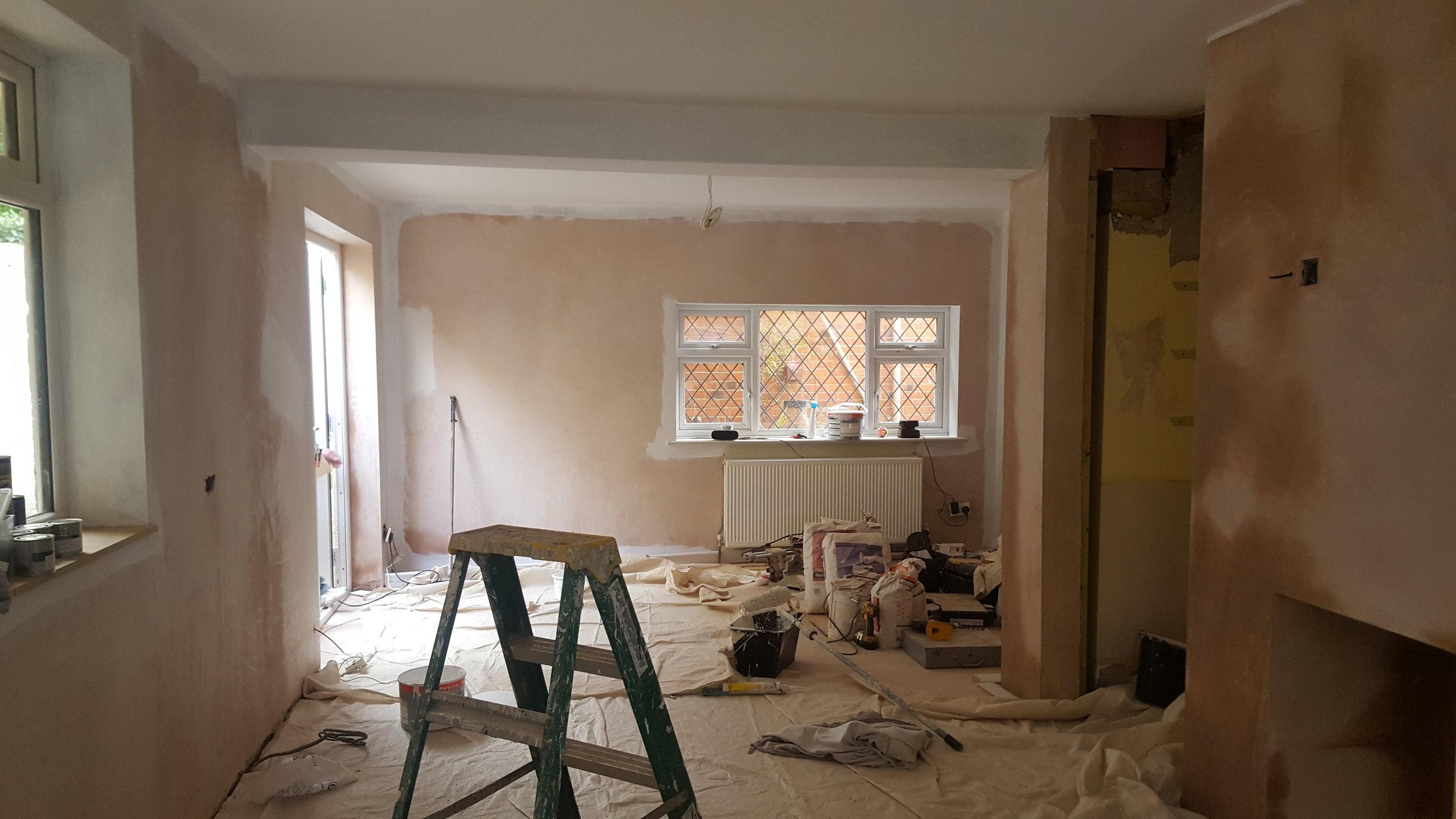 Kitchen midway through redecorating