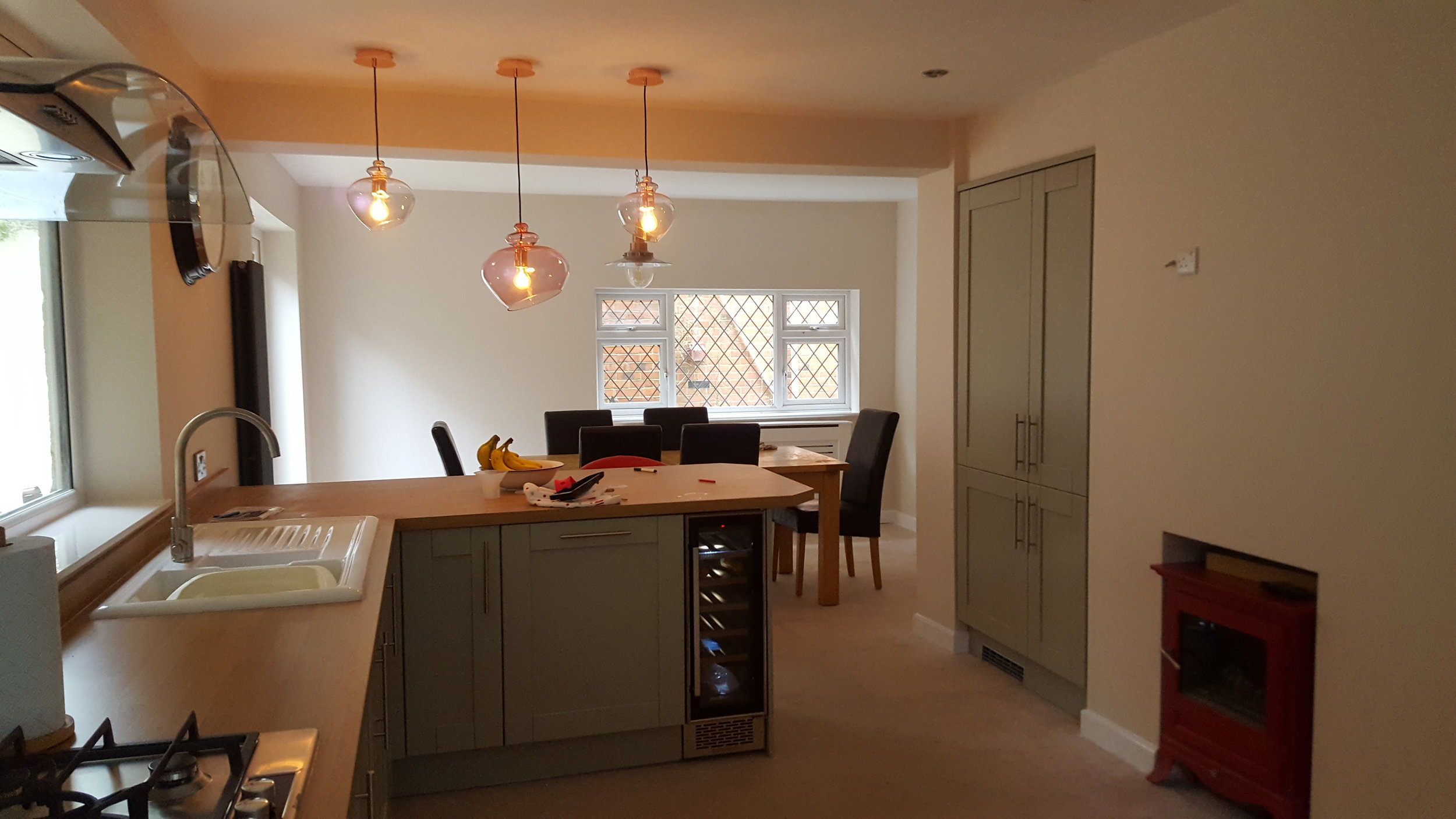 Kitchen AFTER painting from Dorking Decorators