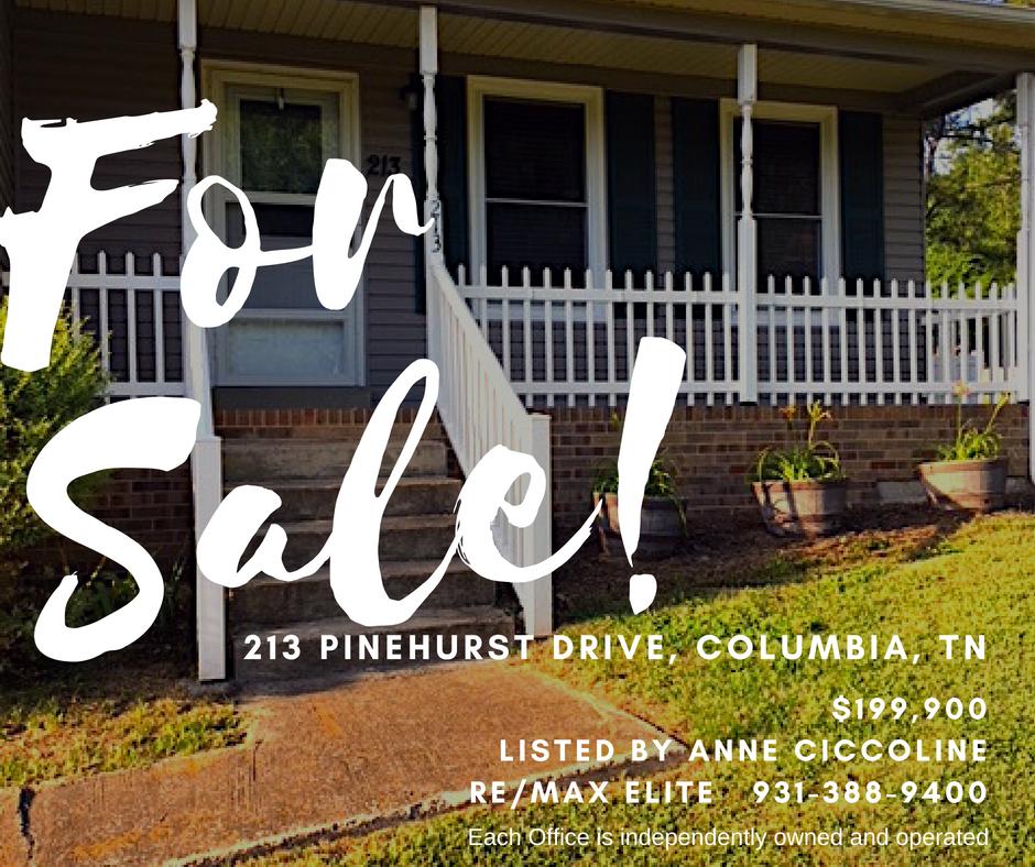 213 Pinehurst Dr, Columbia SOLD - Fabulous ranch home on large lot.