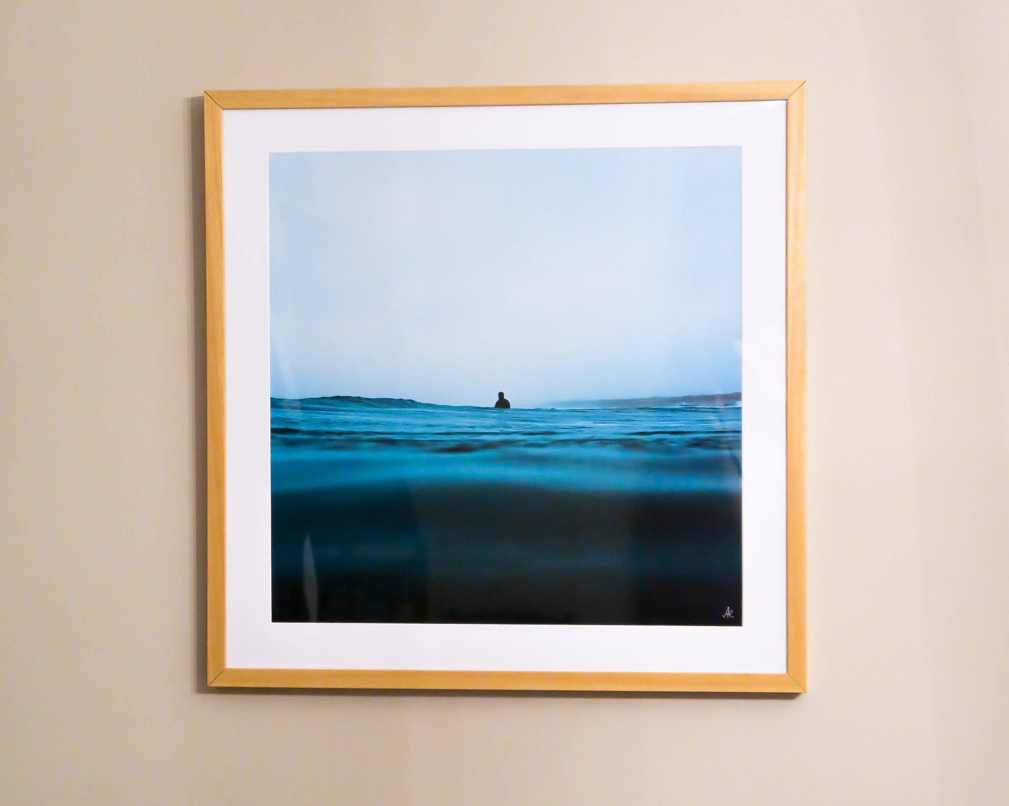 'Room to Breathe' framed in beech.