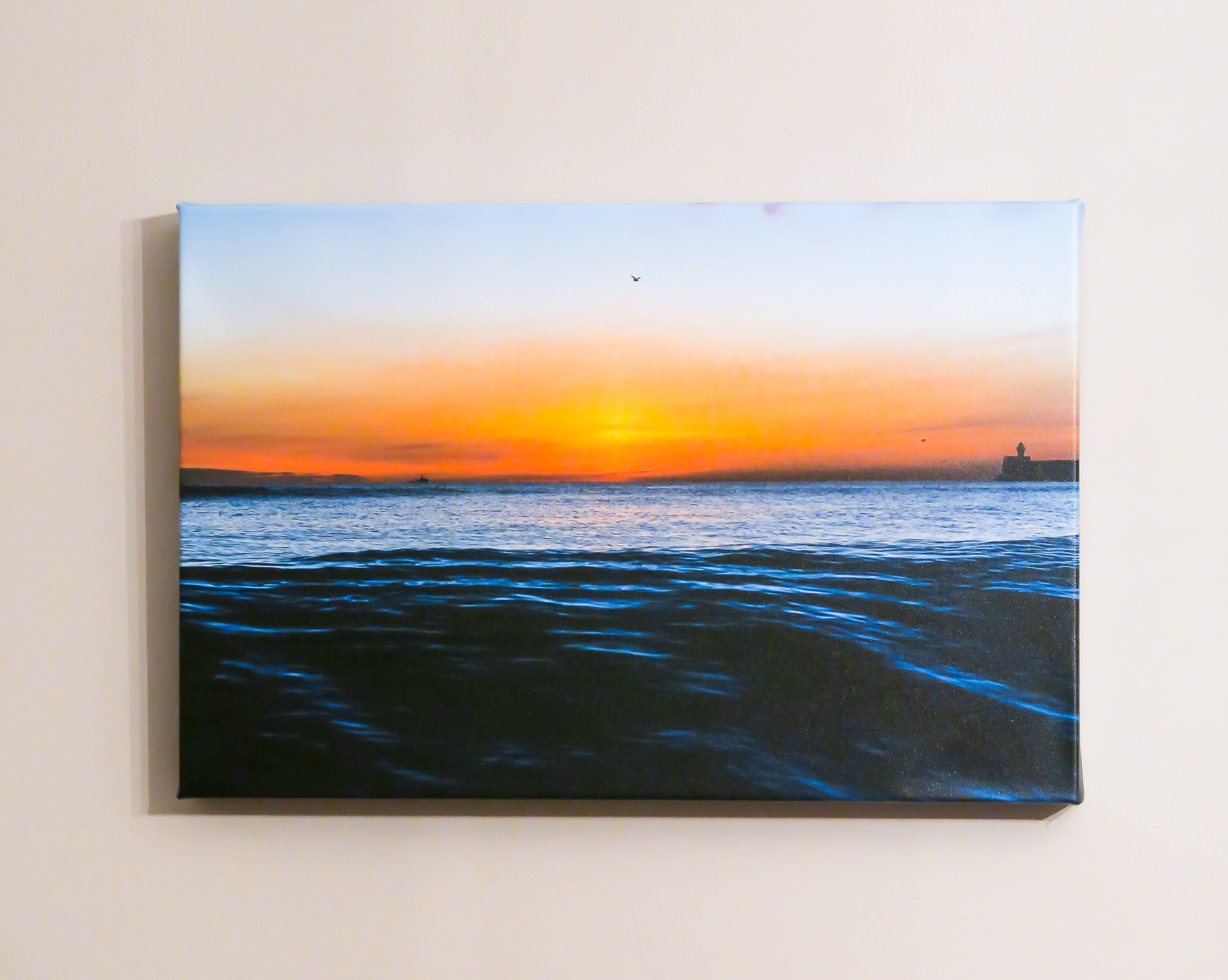 'Good Morning' on canvas.
