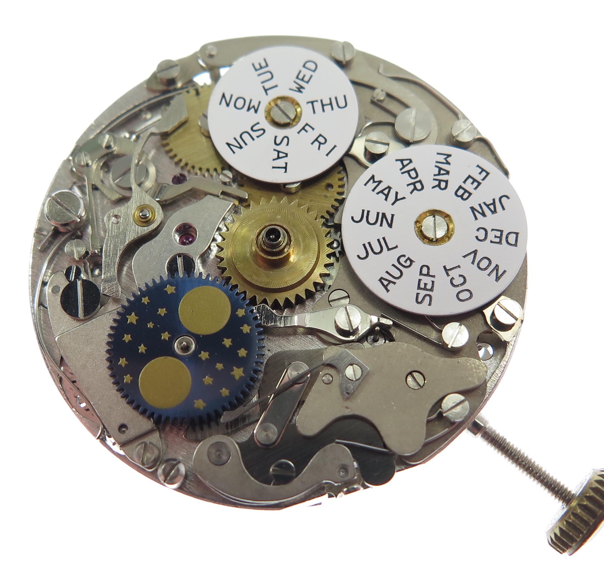 Under dial mechanism