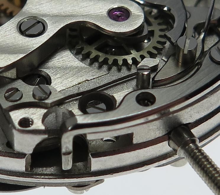 Setting lever screw access