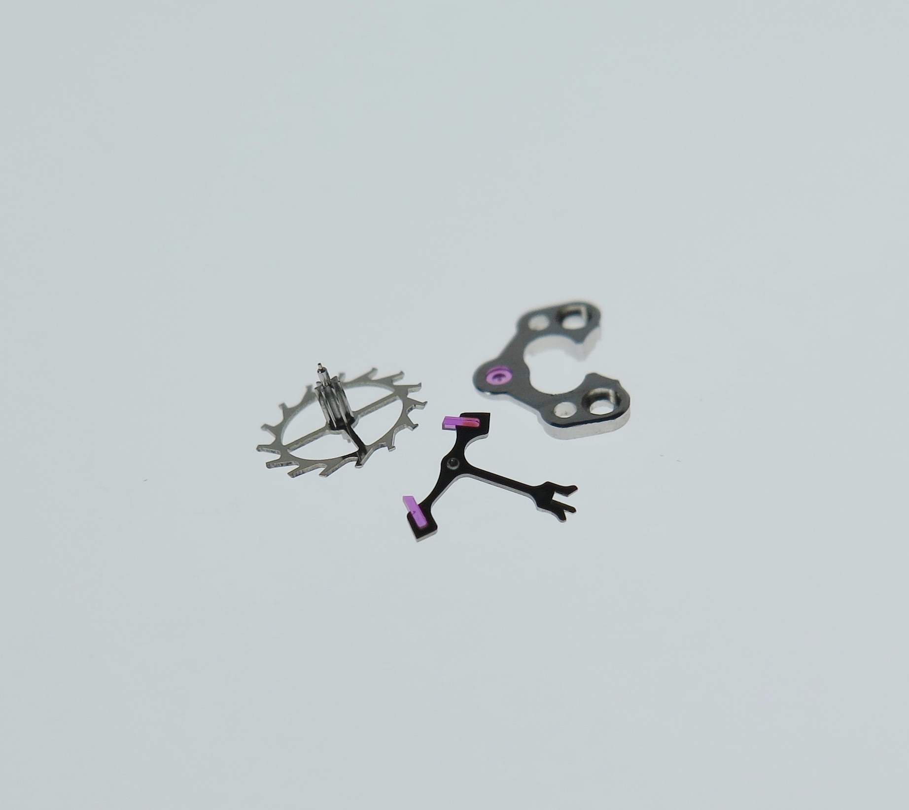 Escape wheel, anchor(pallets) and pallet bride