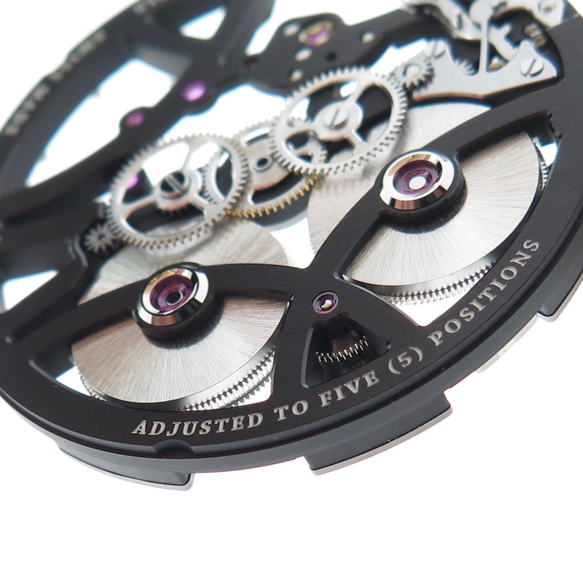 The -adjusted- engraving. Refers to the number of different positions the watch is tested in.