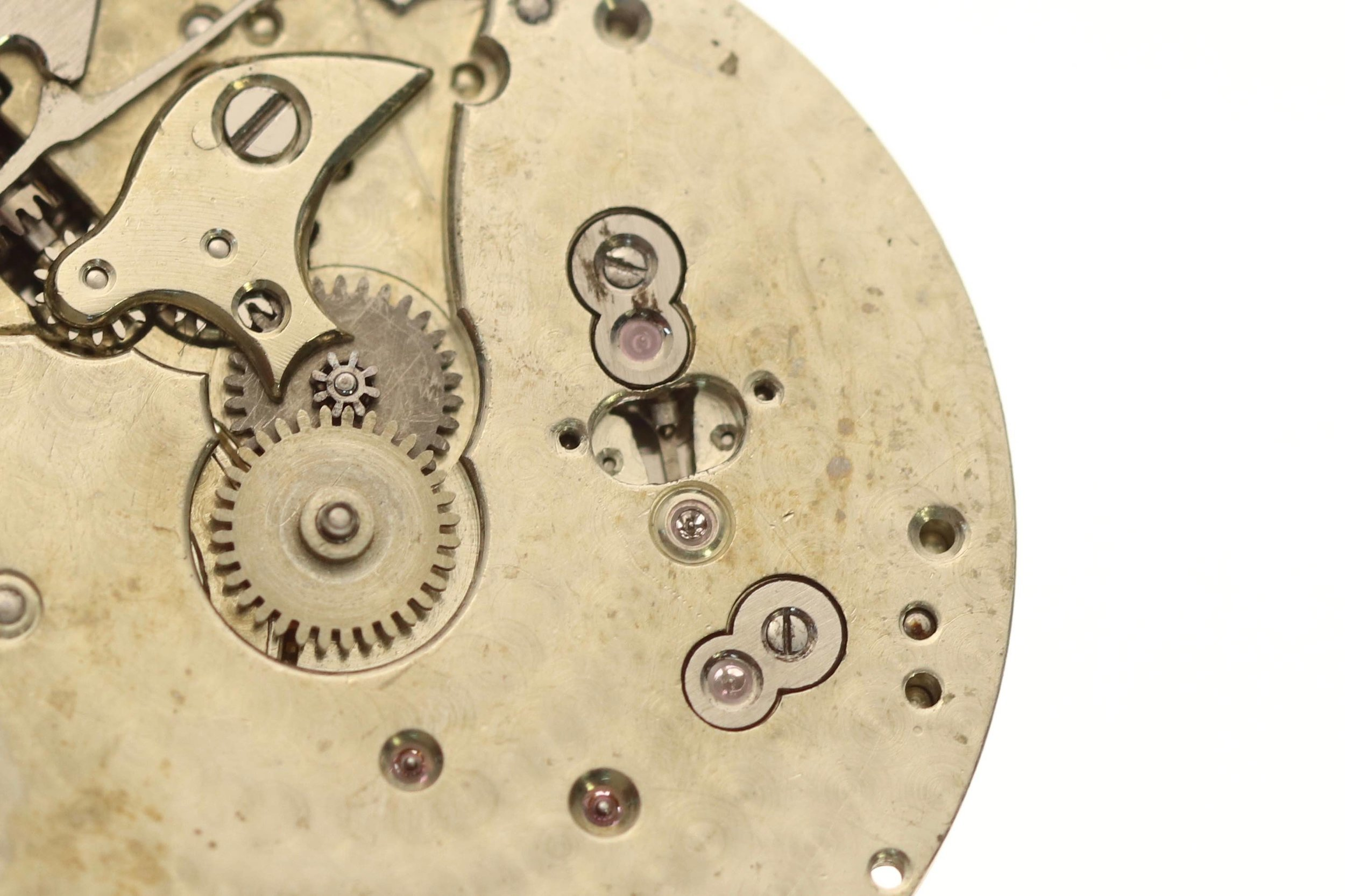 German silver minute and hour wheel