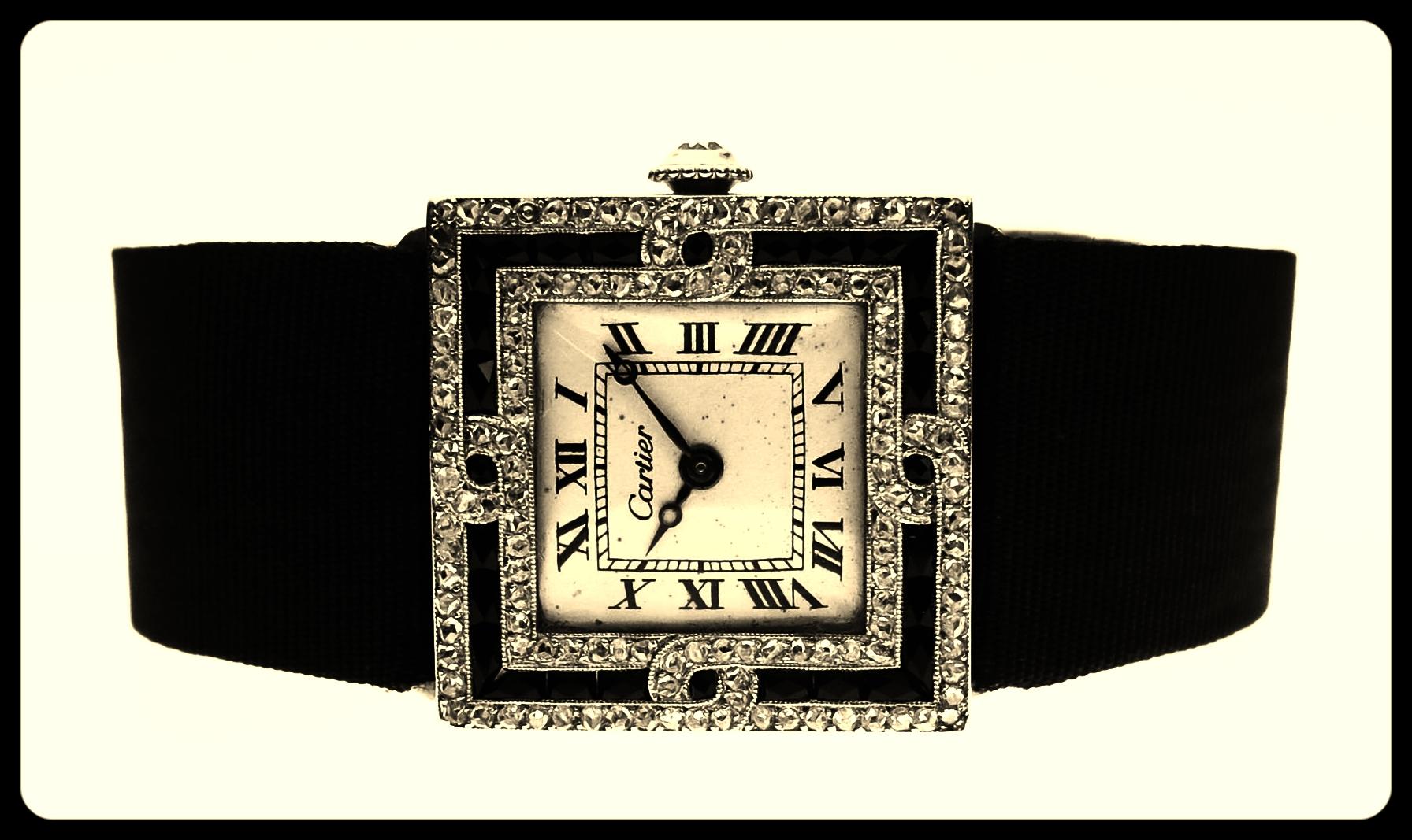 Ladies Onyx dress watch