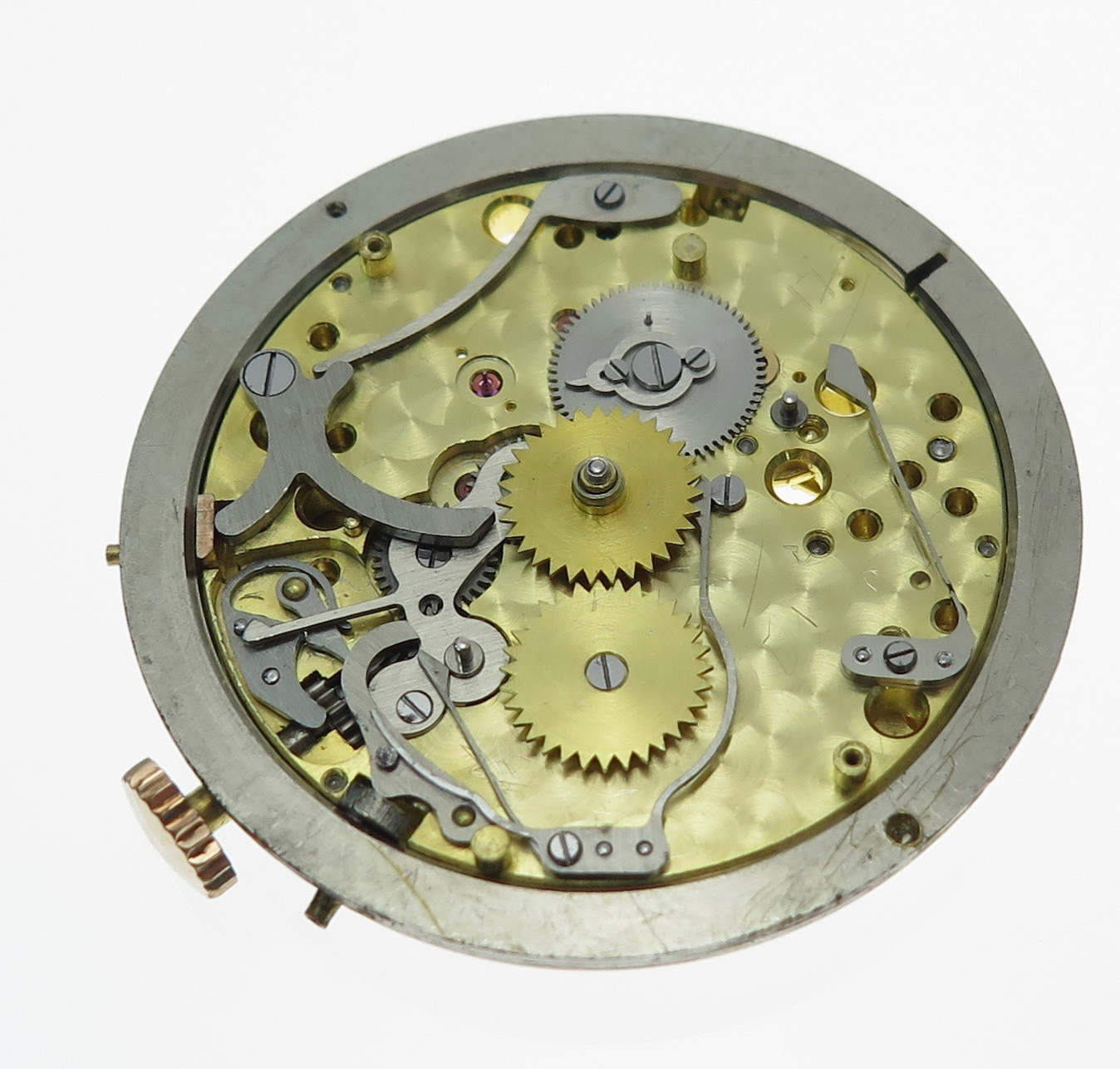 The dial side viewed with out the calendar discs