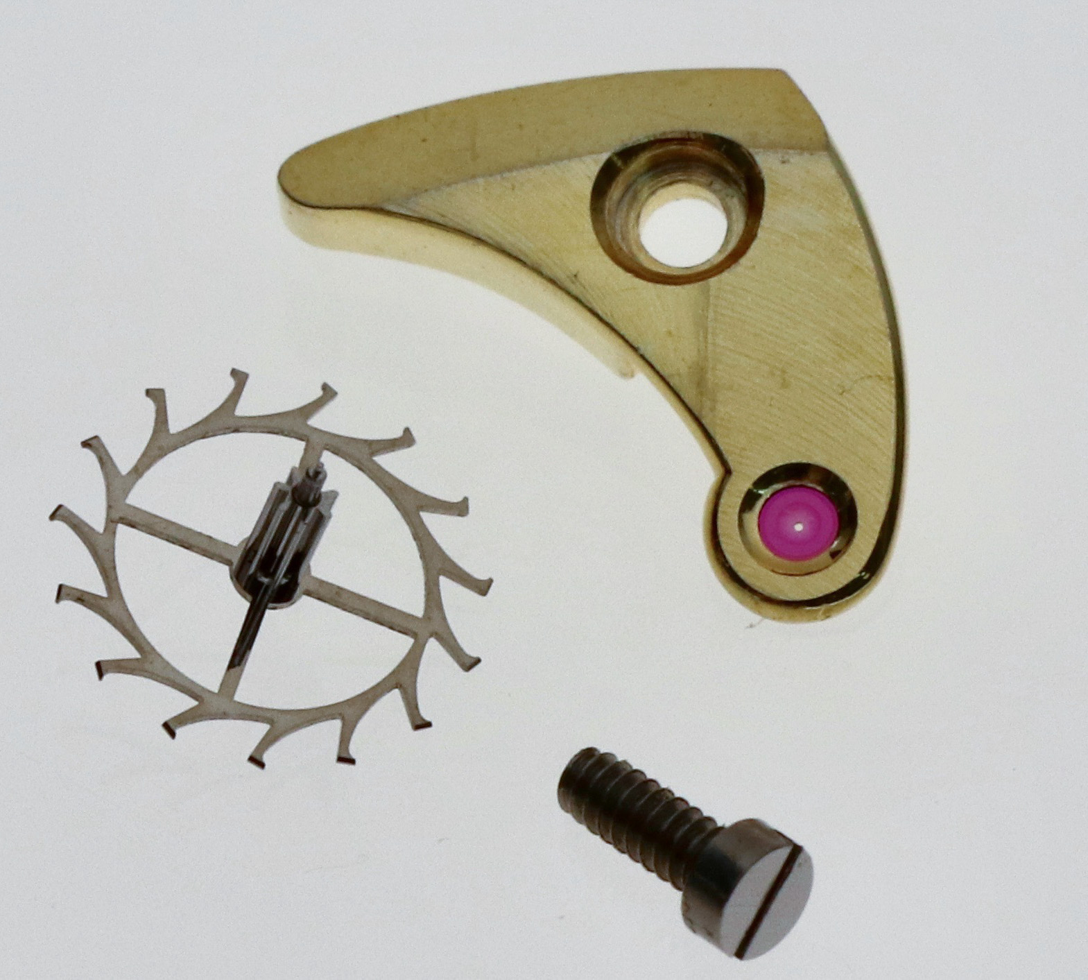 The escape wheel and its cock