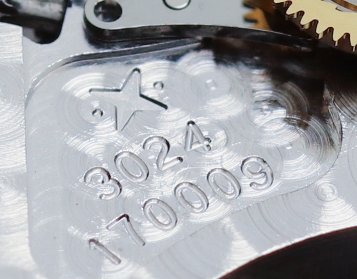 The Vaucher logo, calibre number and unique serial number