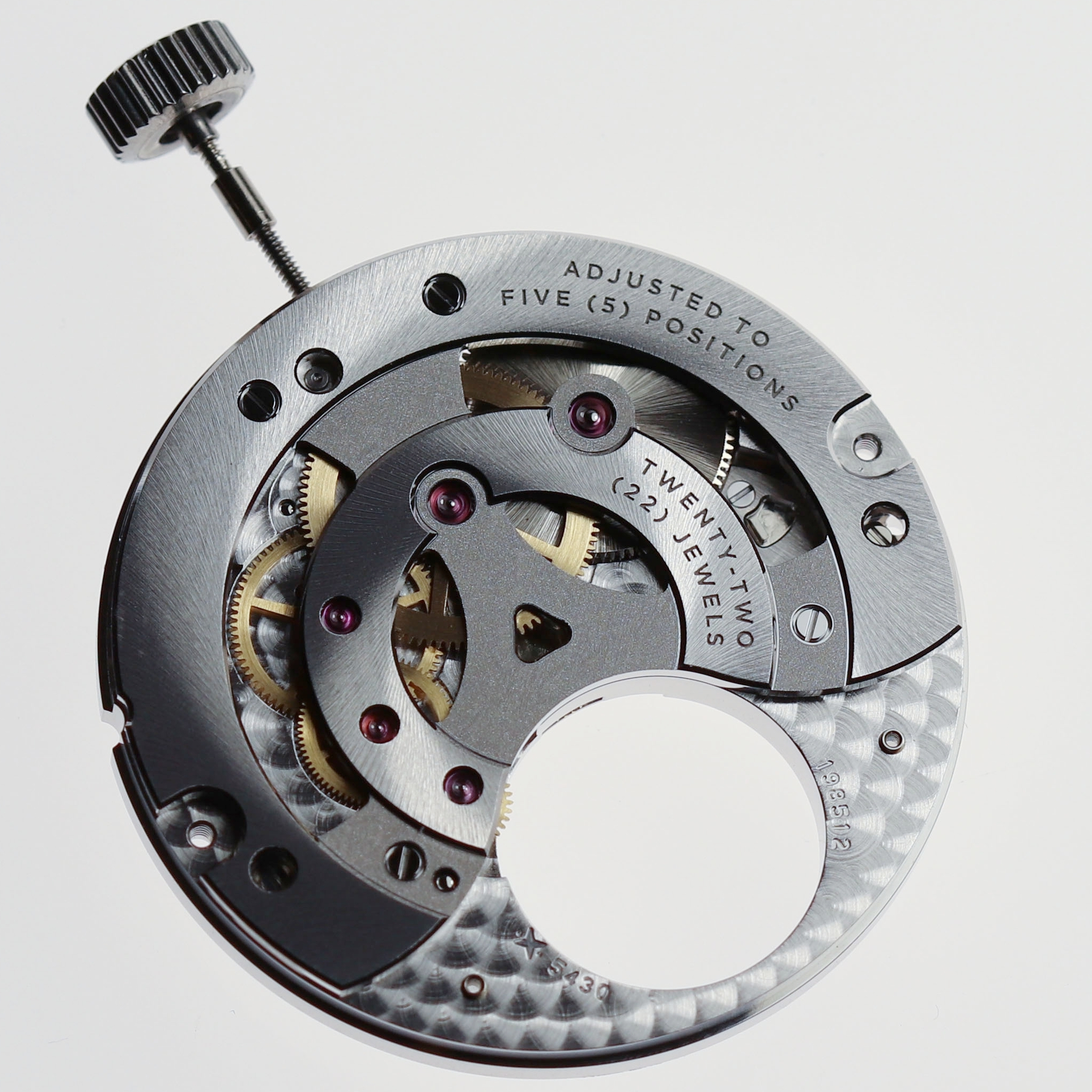 Tourbillon and its bridge removed