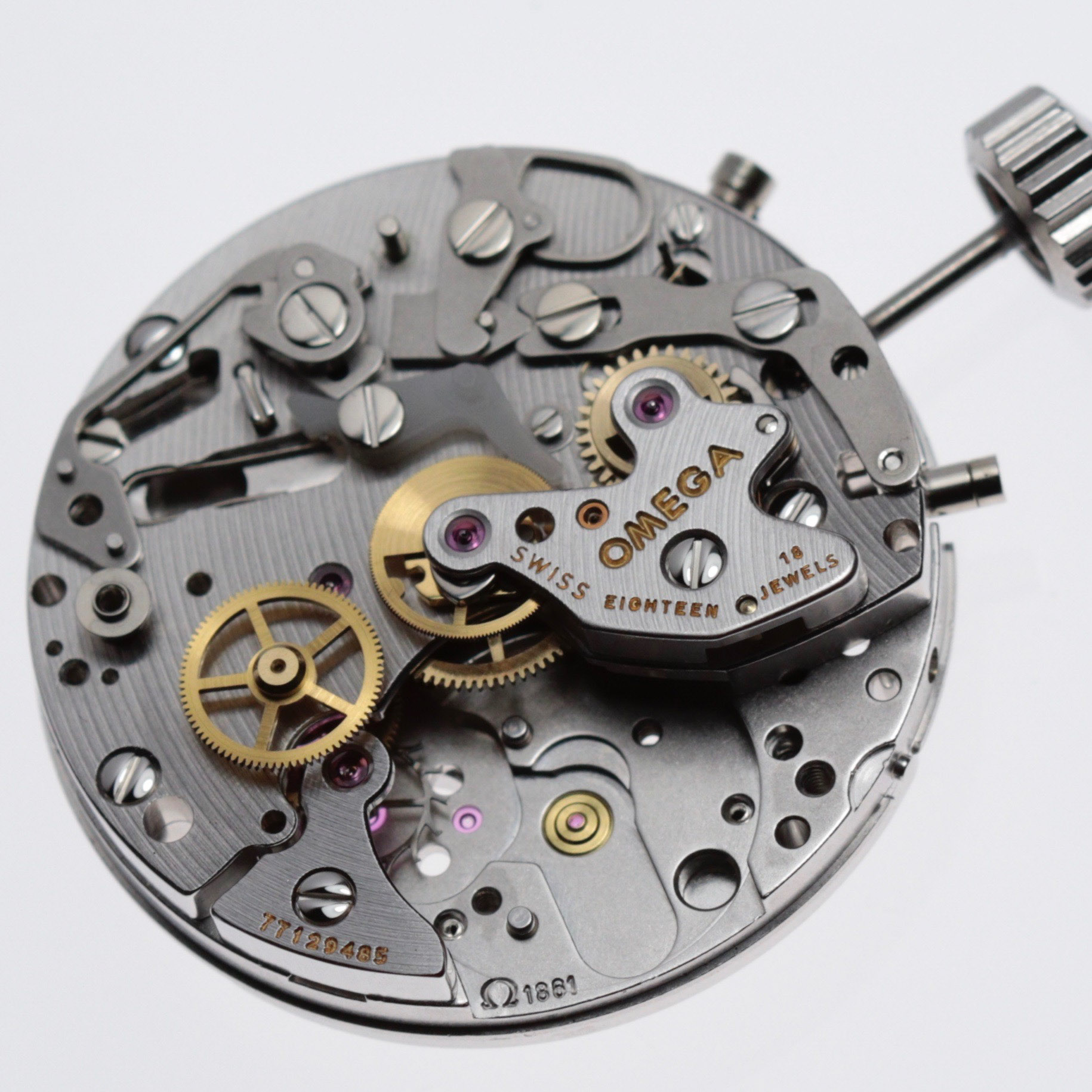 The balance and escapement is removed