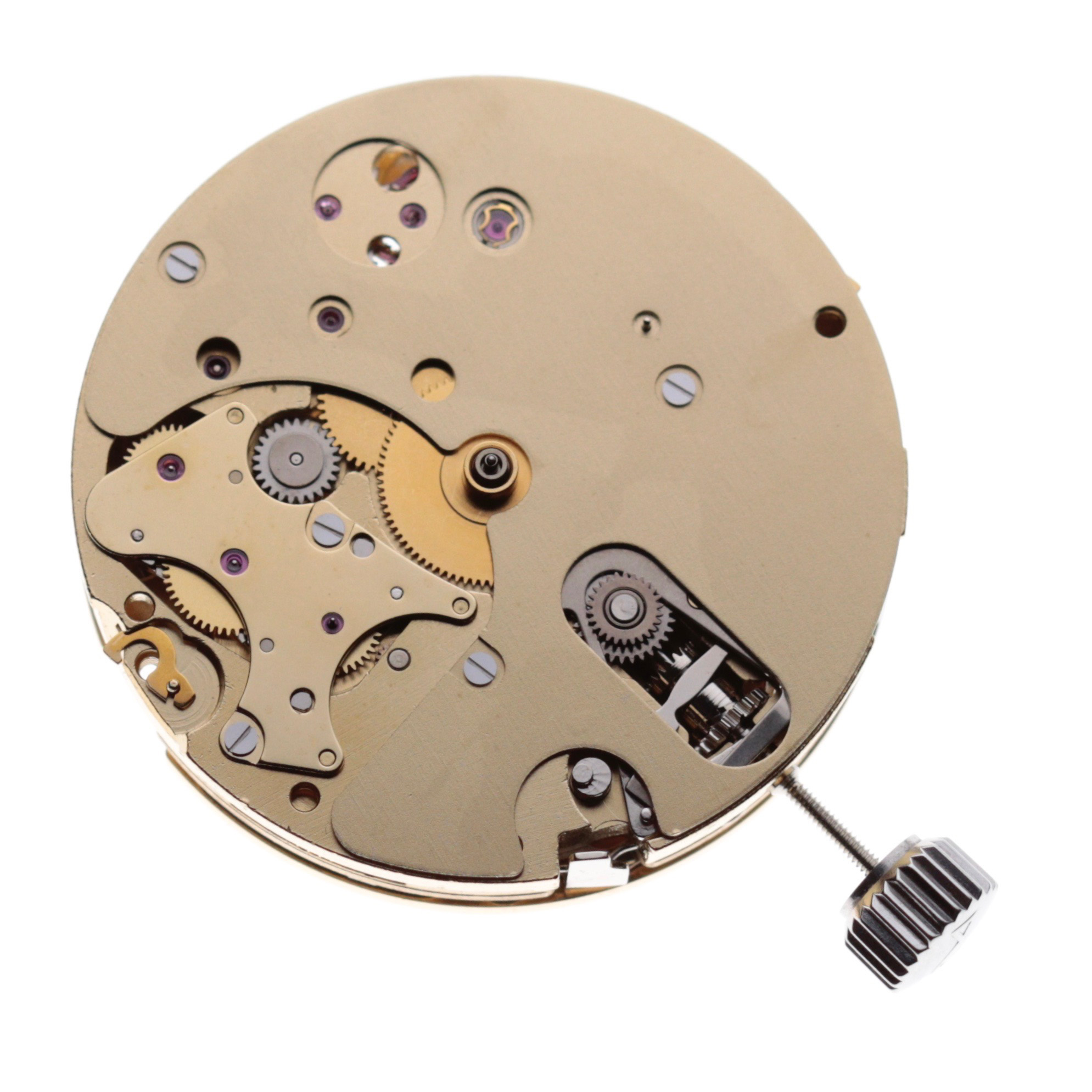 Complete view of mvt, dial side