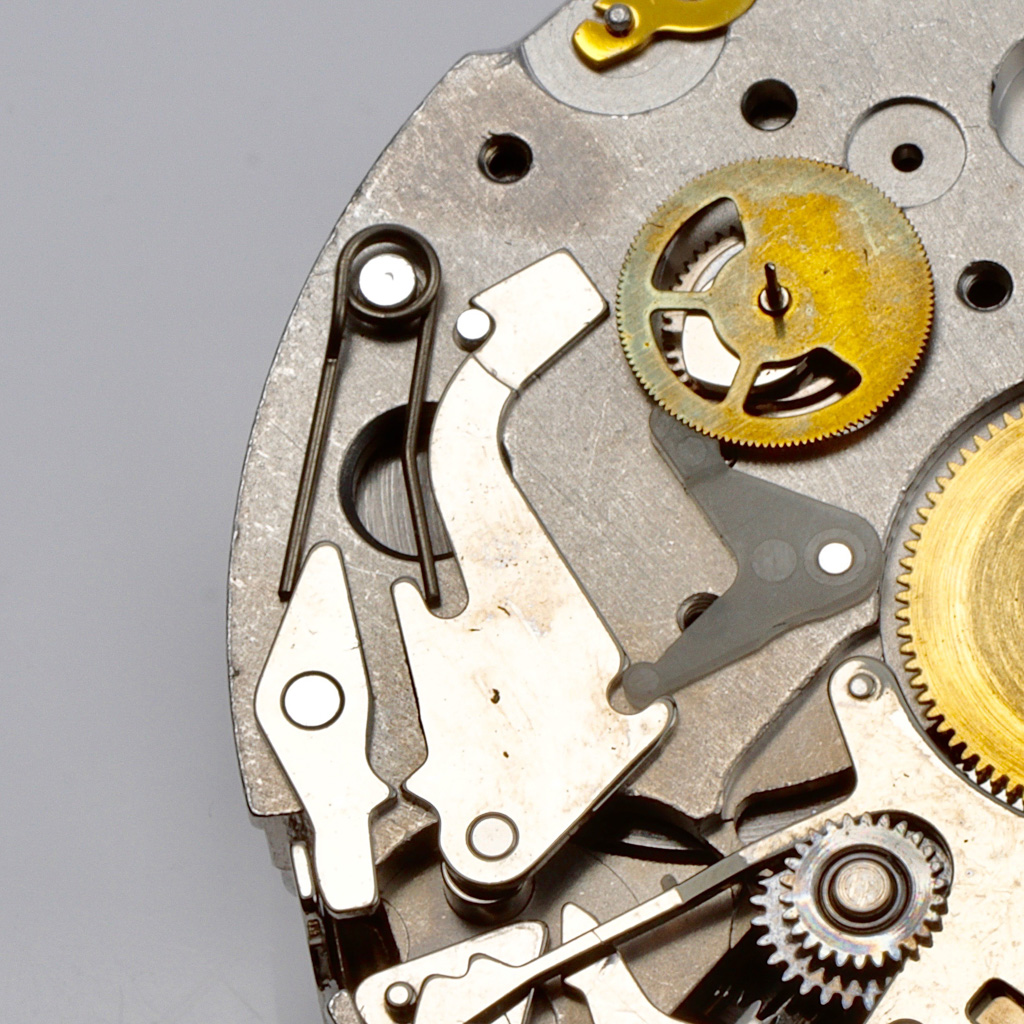 Hour recorder return to zero mech + brake