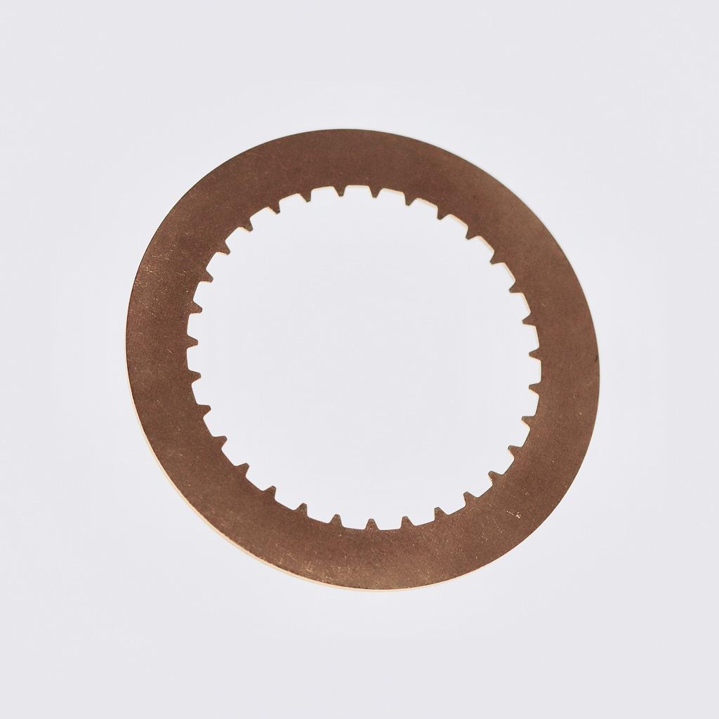 Raw metal underside of disc