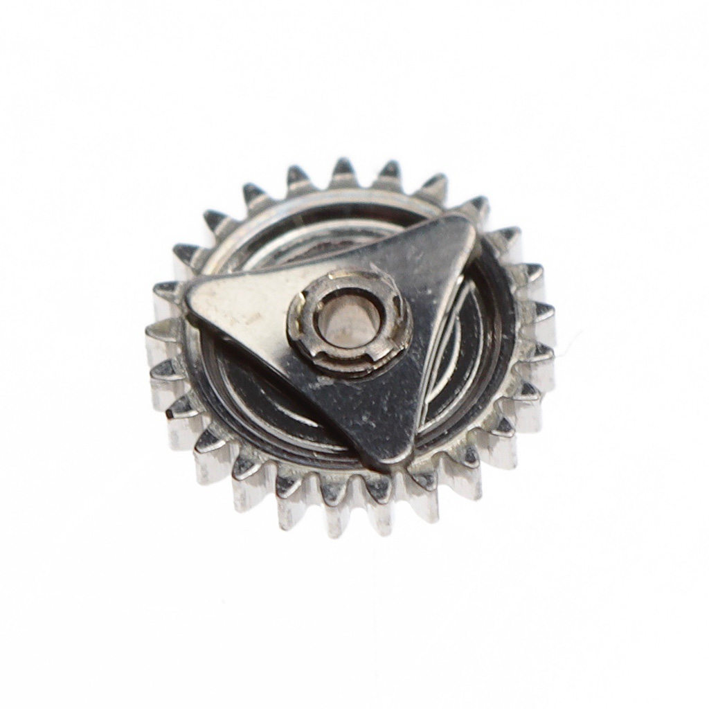 Friction clutch driving the motion work for the hands