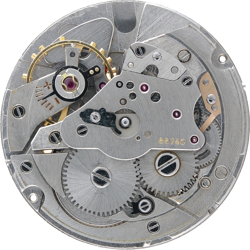The movement with the rotor weight removed