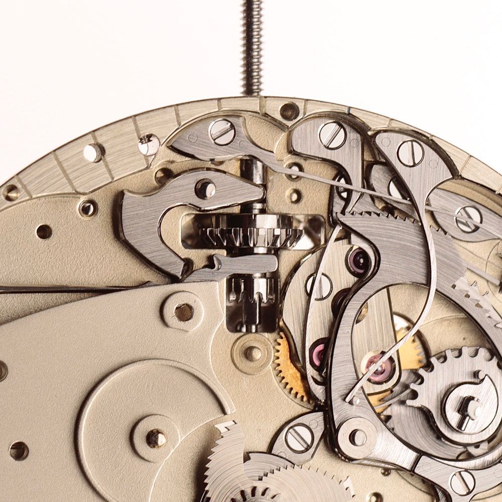 Setting mechanism in winding position