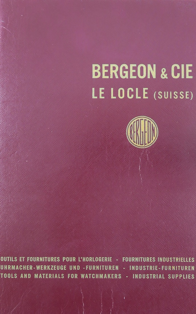 A Bergeon catalogue from 1958