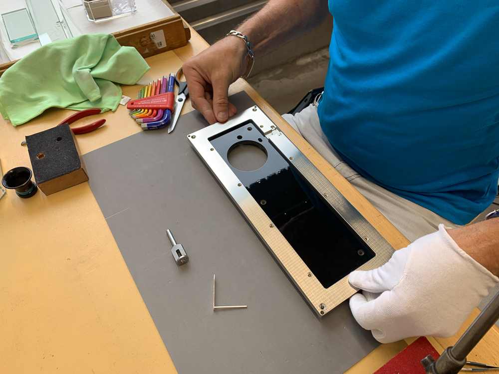 Adding the metal frame