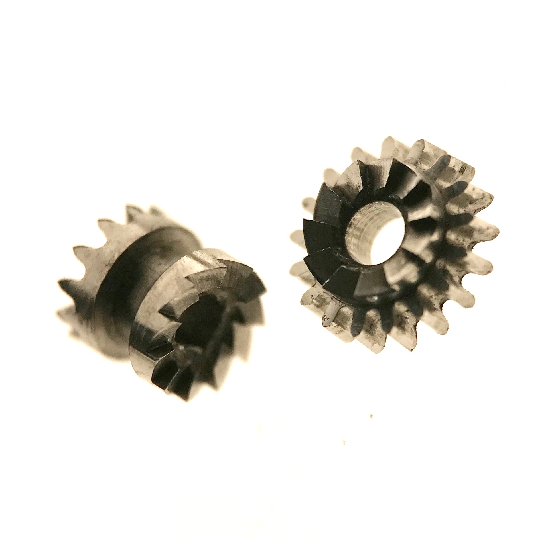 Sliding pinion (left) and winding pinion (right)