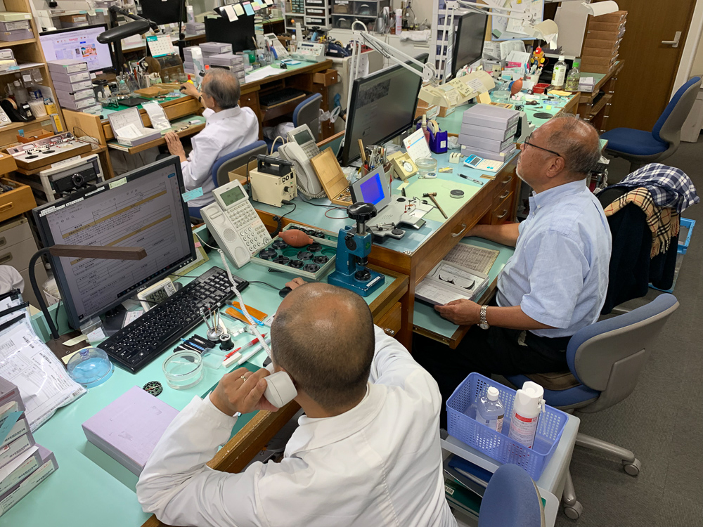 The Estimation Department - Consisting of 8 people. This department checks the watches and generates a small report including a calculation as to how much the watch will cost to service/repair.