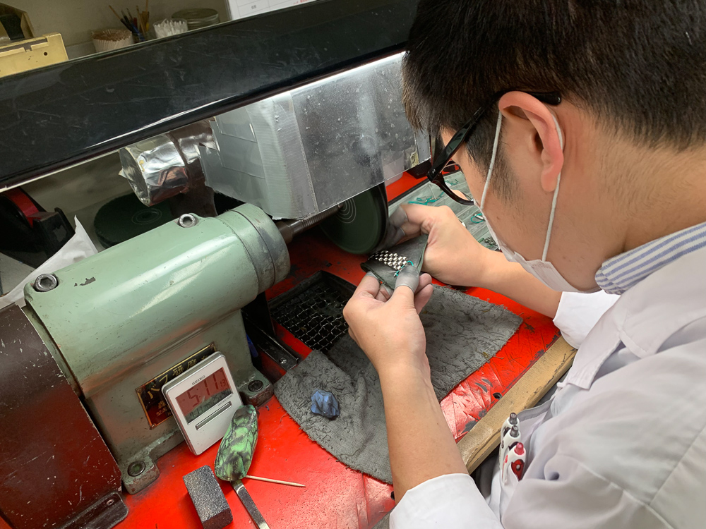 Refurbishing Cases - A separate workshop from the watchmakers, dismantles the cases, refurbishes, polishing and re-graining the cases of the watches. Then cleans in ultrasonic baths the pieces to remove any polishing compounds as well as the accumulated residue from the clients.