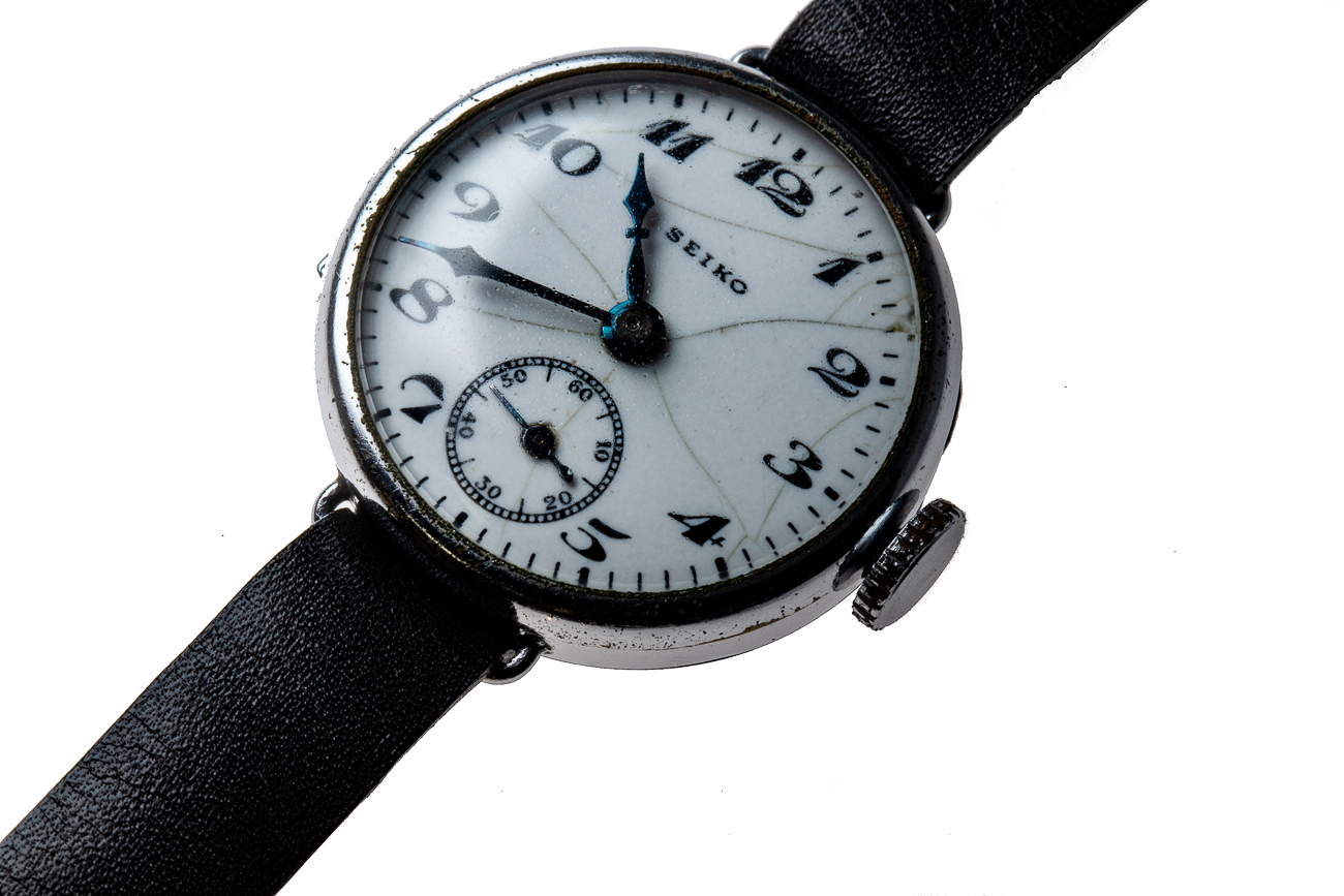 The first Seiko brand watch was produced in 1924. The Great Kanto Earthquake struck in 1923 and the company's headquarters and the Seikosha factory burned down. After the Earthquake, the company rebuilt and created a new watch.