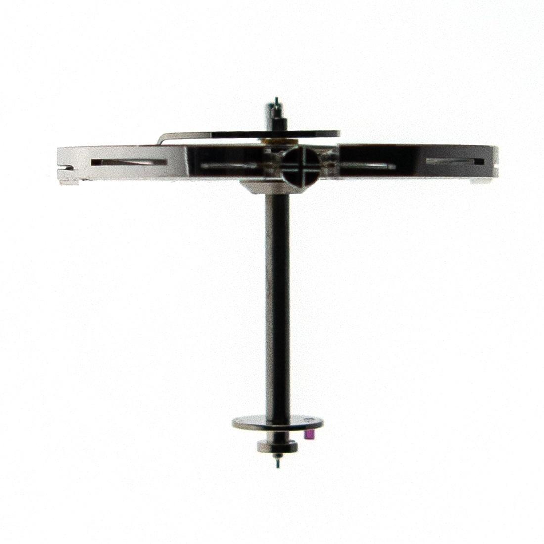 Balance wheel profile. The balance staff is 11.80mm long.