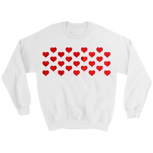 Heart pattern crewneck ❤️❤️❤️❤️❤️❤️❤️❤️❤️ link in bio!