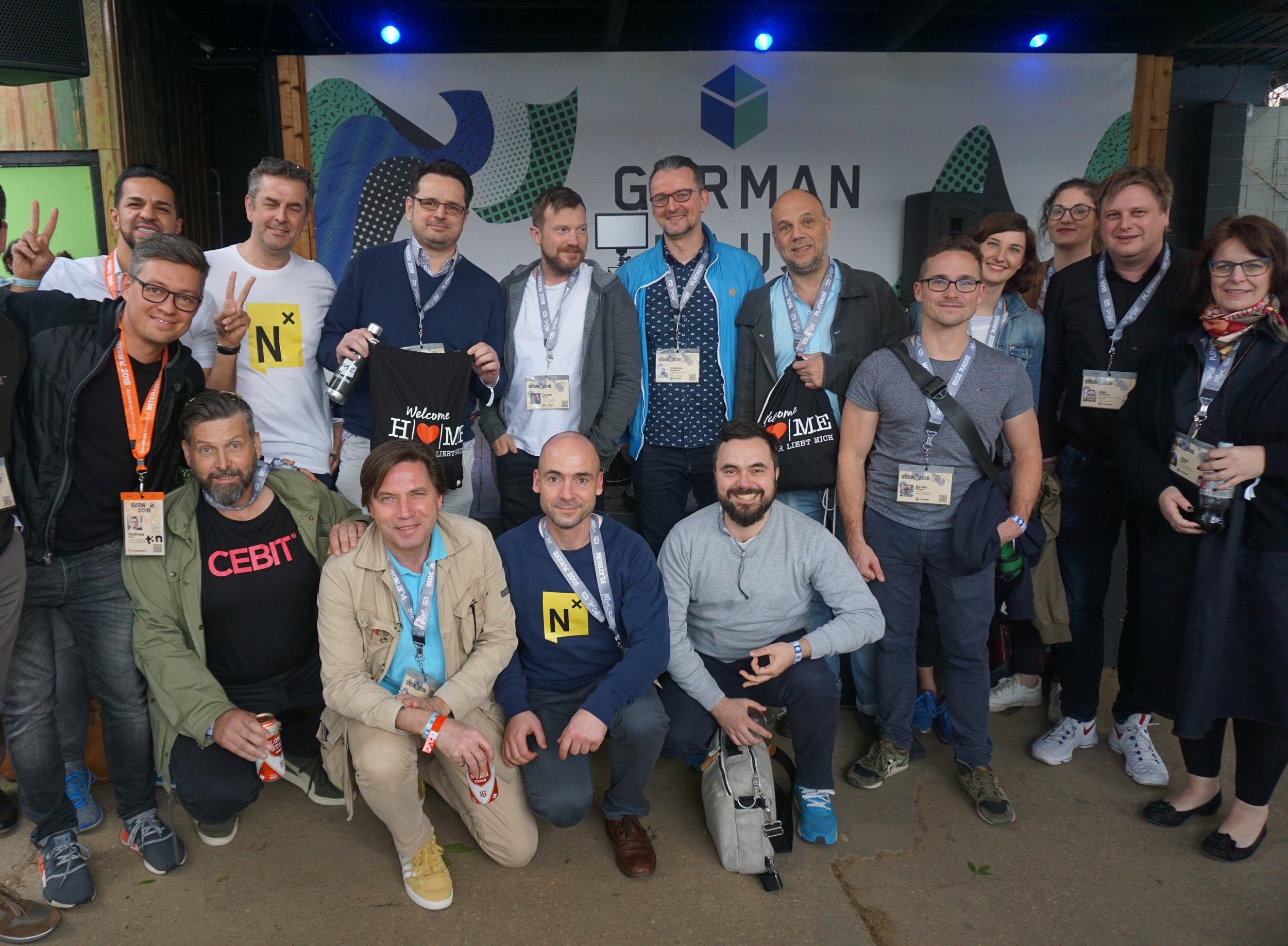 Delegation mit Initiatoren und Partnern von Digitales Hannover auf der SXSW in Austin, Texas.