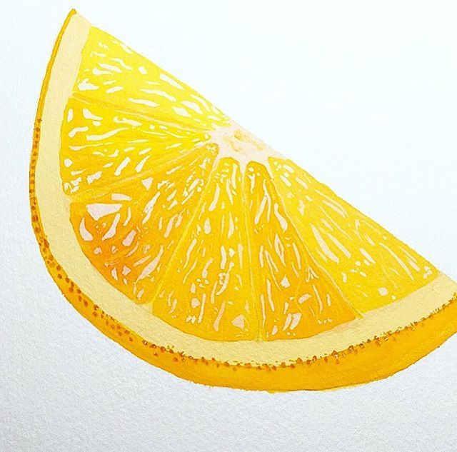 Orange slice I painted with gouache. @angied_art #orange #slice #fruit #gouache #art #instaart #atxart #artwork #fresh #angied_art #paint #painting