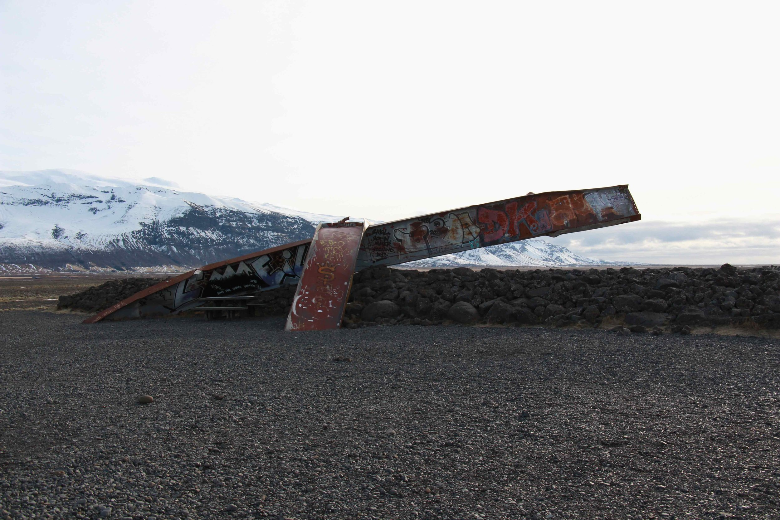 all that remains of a bridge from a volcanic eruption in '96