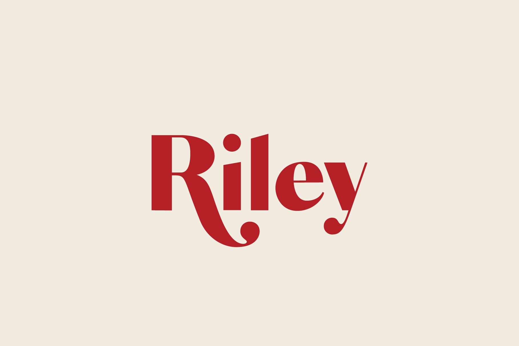Riley A Modern Typeface Josh Ownby