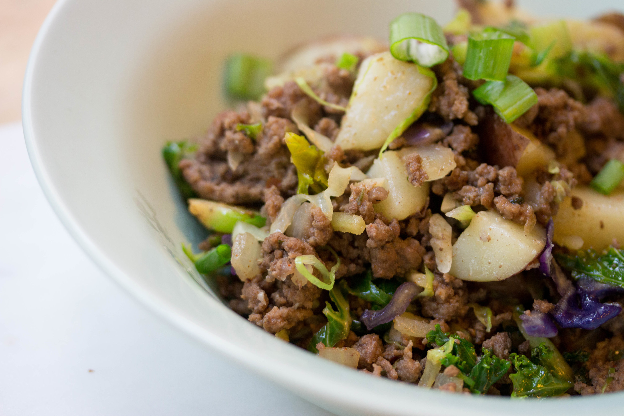 Beef and Potato Power Bowl