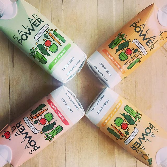 Super excited to receive my prize from winning the @saladpower giveaway! Looking forward to trying these healthy juices. 🍍🍏🥒🥕🍎 #saladpower
