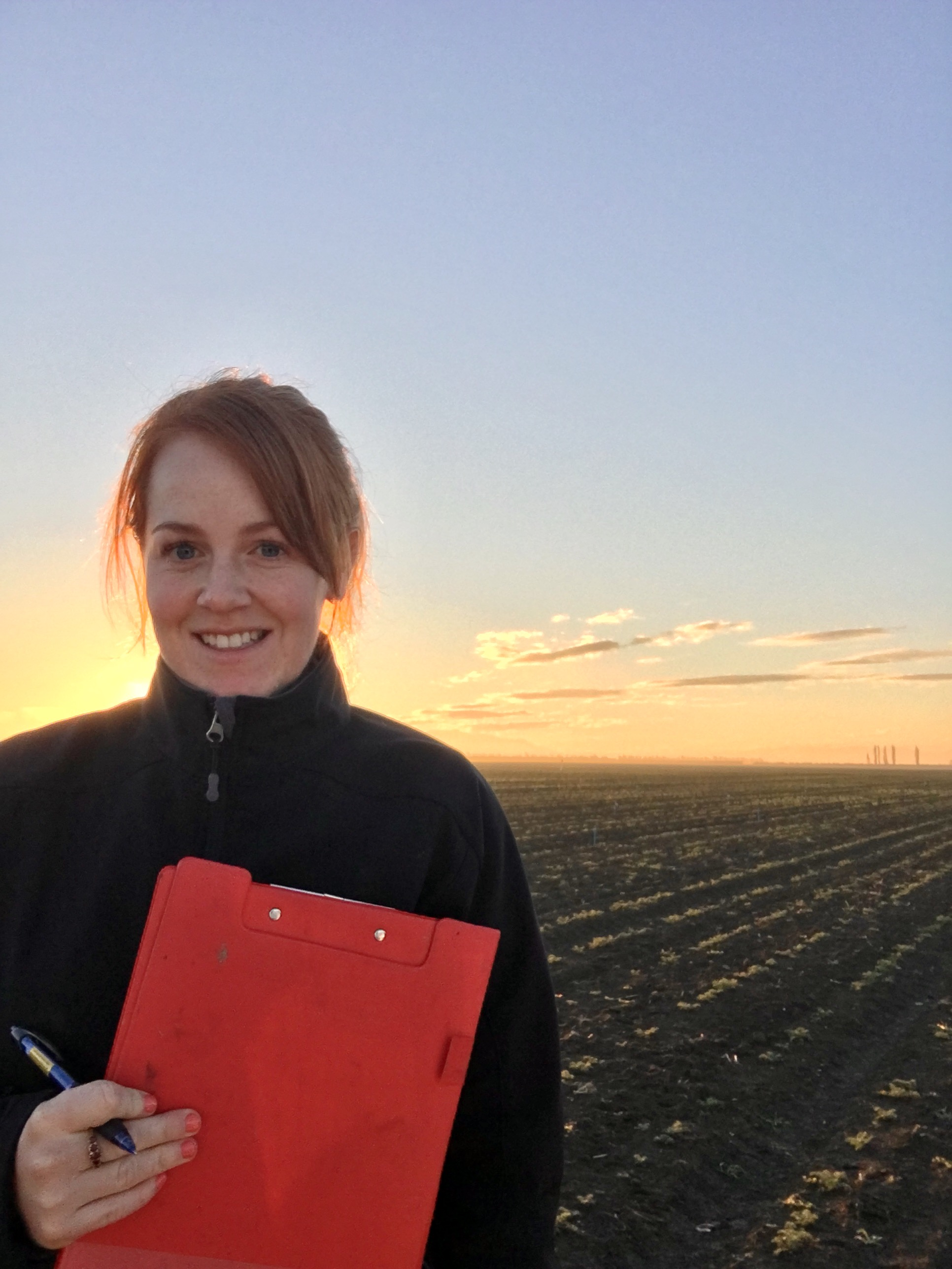 """I do it because I am passionate about science, farm systems, problem solving, and increasing productivity and profitability for farmers. I love the process and challenge of what I do and I am a firm believer that you get out what you put in."
