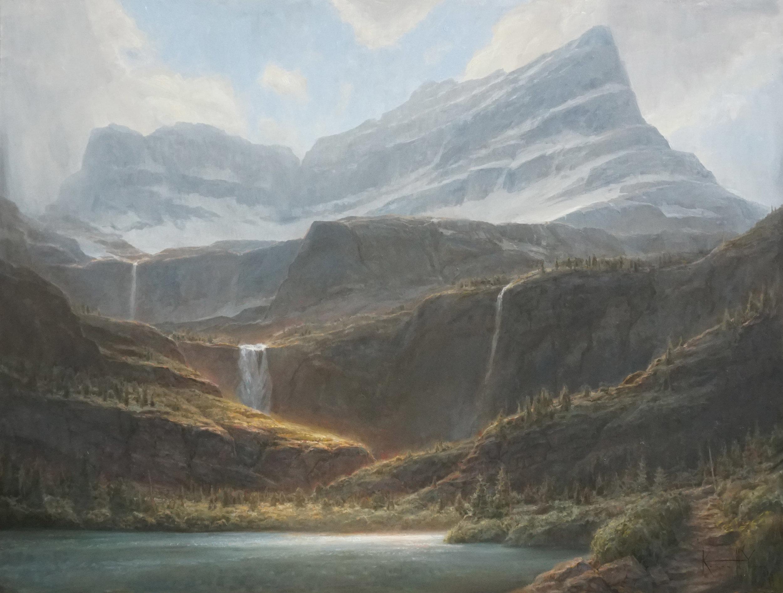 Winter Falling - 36x48 - Sold