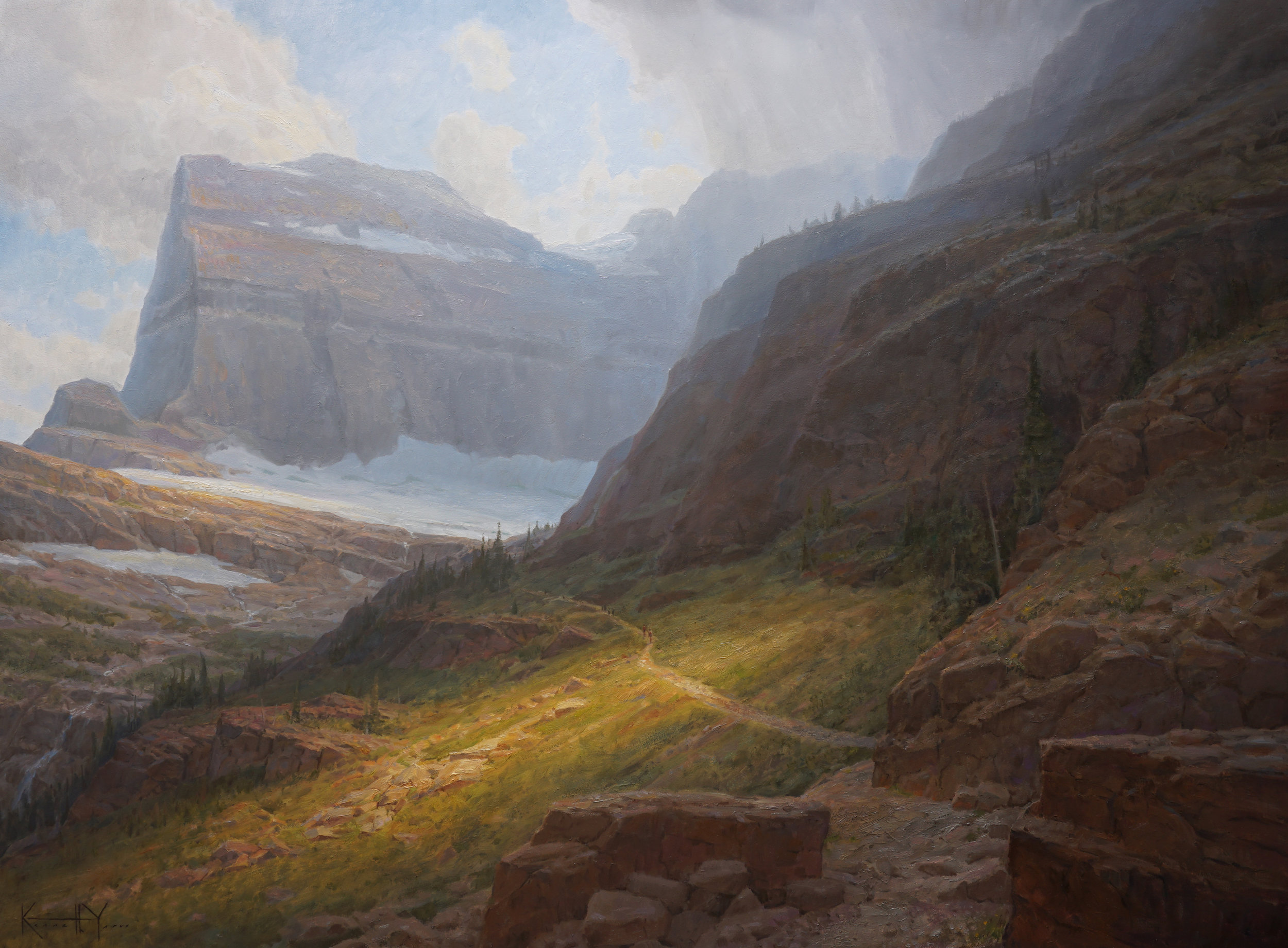 Onward to the Glacier - 30x40 - Available at Coeur D'alene Galleries