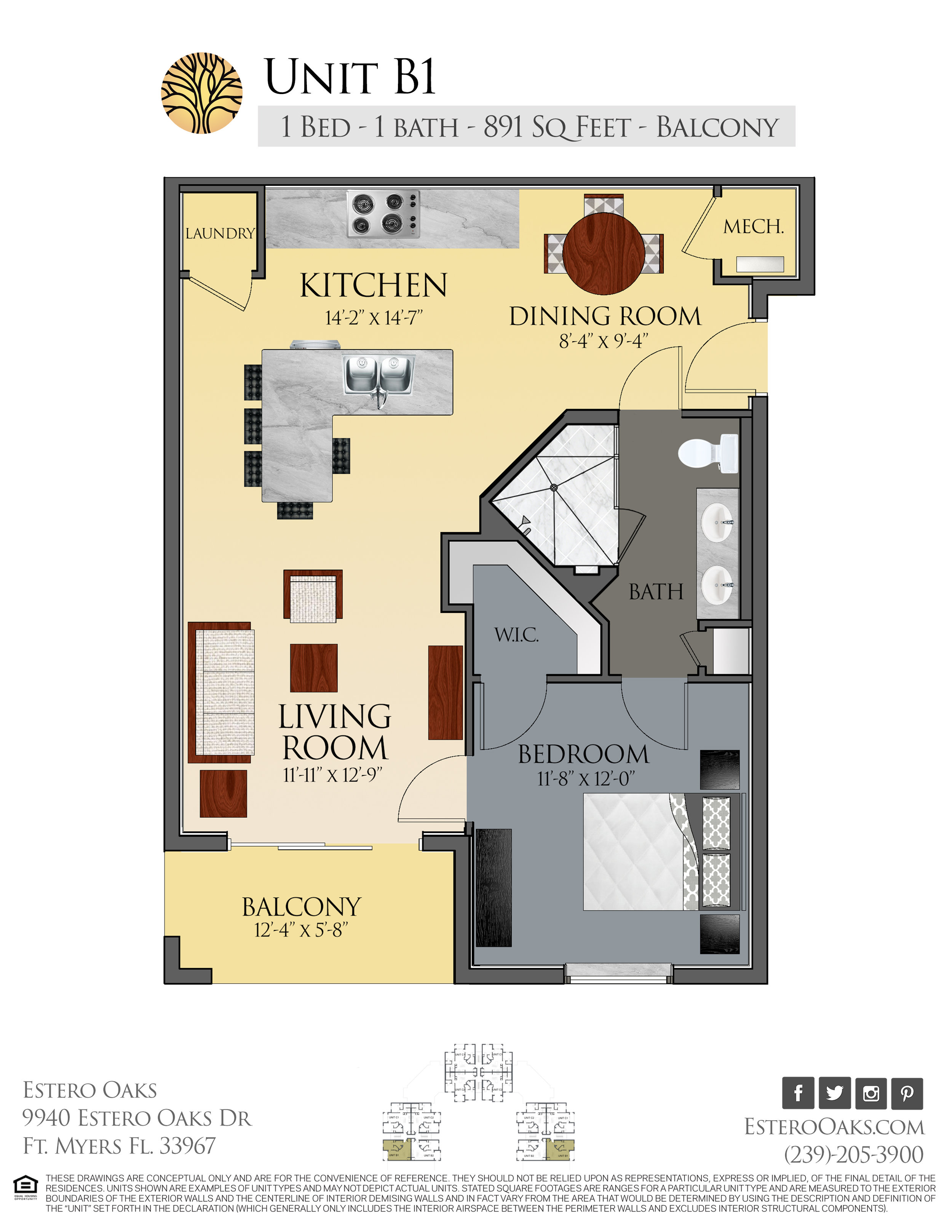B1 One Bedroom +Balcony