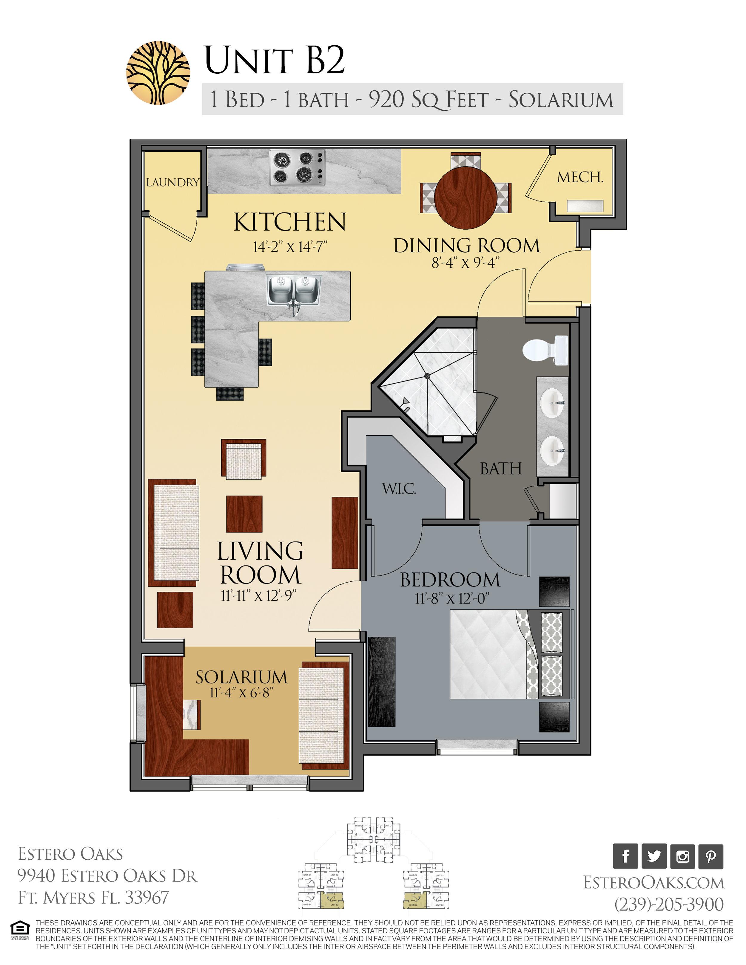 B2 One Bedroom +Solarium
