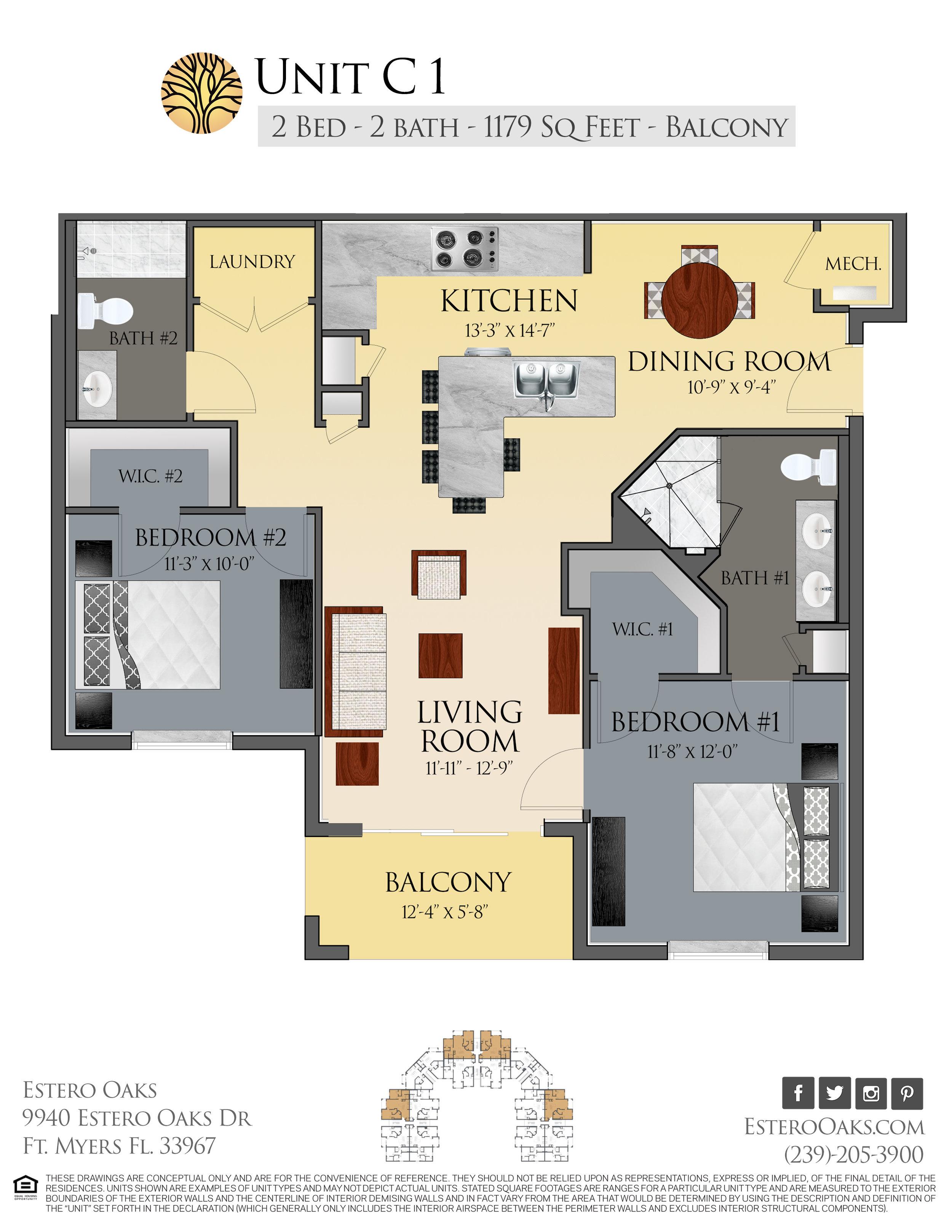C1 Two Bedroom +Balcony
