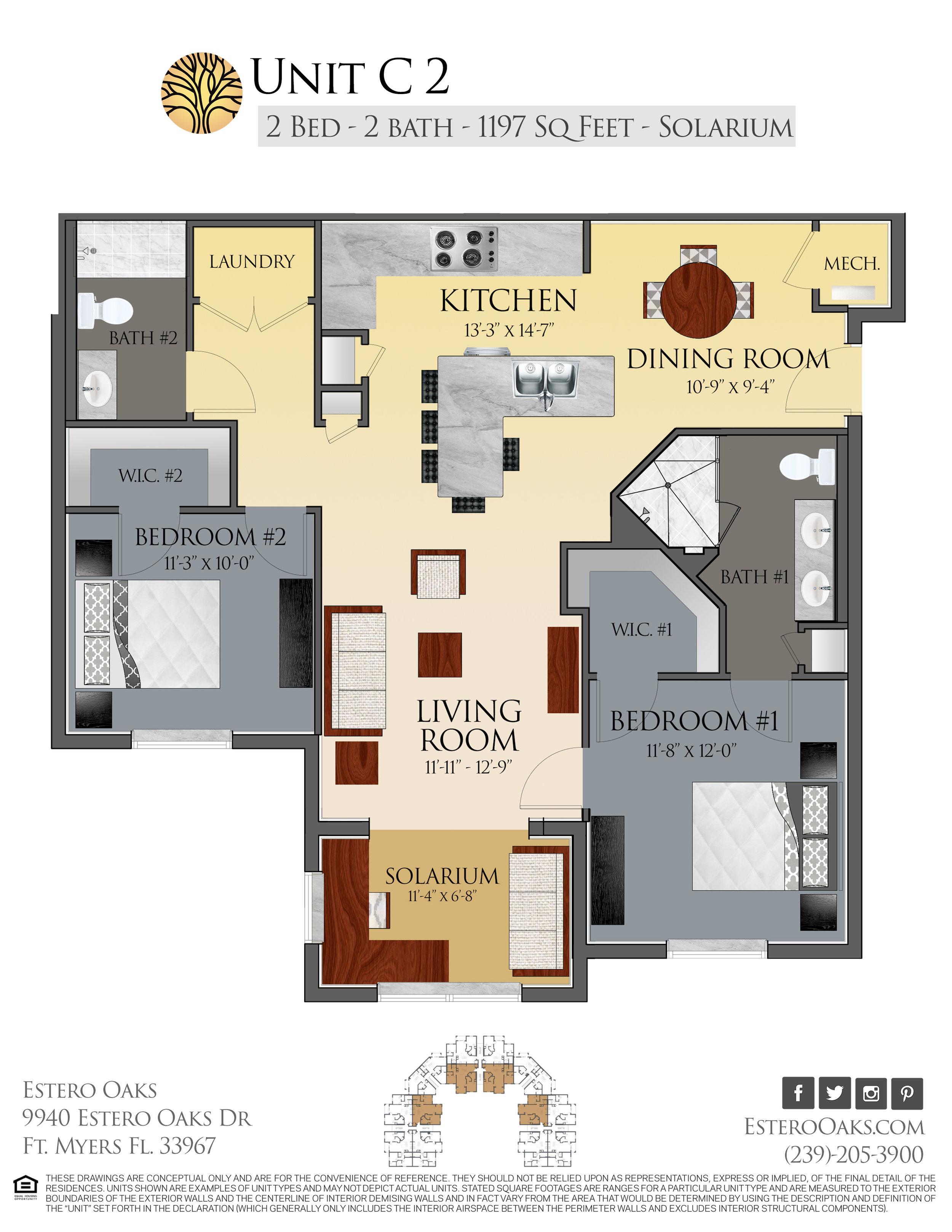 C2 Two Bedroom +Solarium